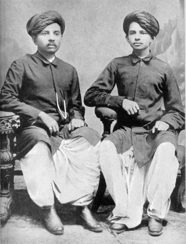Mohandas Gandhi with his classmate