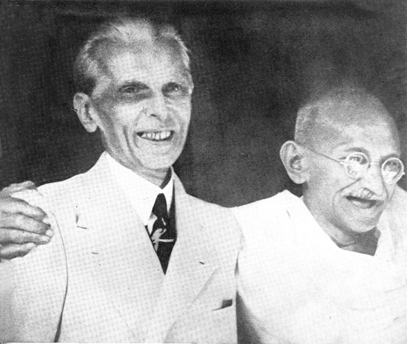 Gandhi with Jinnah, 1944