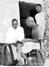 Gandhi with Jamnalal Bajaj, Satyagraha Ashram, Wardha, 1934.
