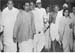 Gandhi with his host, Subhash Bose and Sushila Nayyar, Calcutta, October 1937
