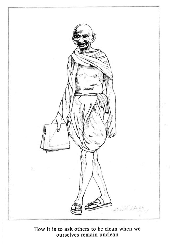 gandhiji standing coloring pages - photo#3