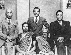 Veeramma with her daughter and sons