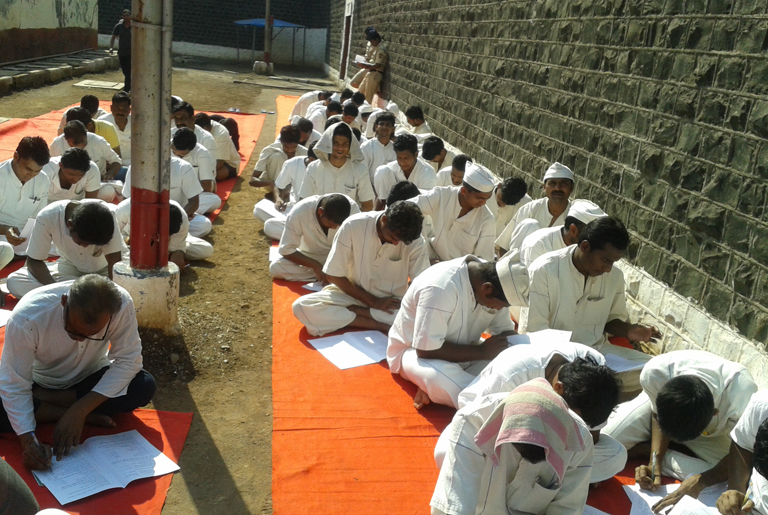 89 jail inmates appeared for Gandhi Peace Exam