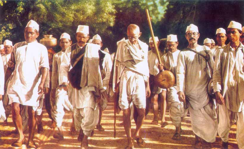 Image result for gandhi salt march