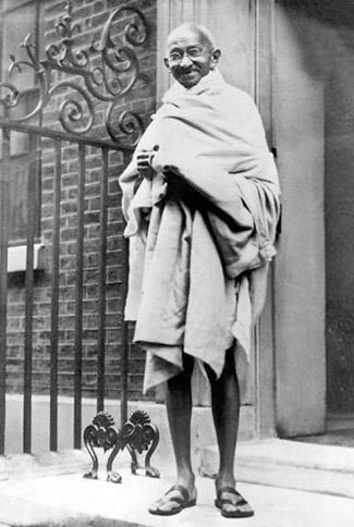 Mahatma Gandhi at 10 Downing Street, London, 1930