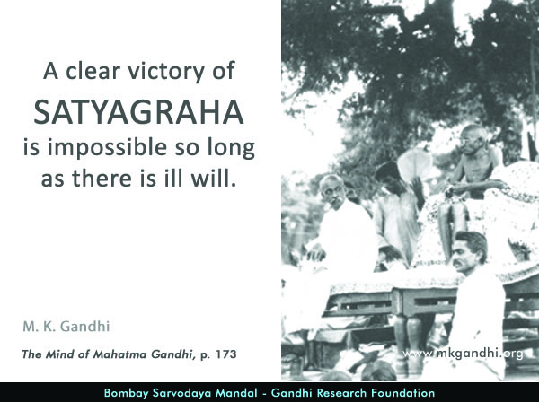 #MahatmaGandhi #Quotes on #Satyagraha