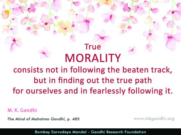 Mahatma Gandhi Quotes on Morality