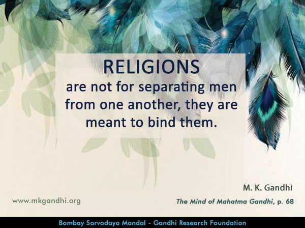 Mahatma Gandhi Quotes on Religon