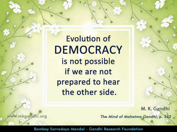 Mahatma Gandhi Quotes on Democracy