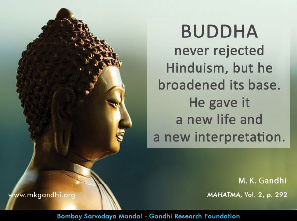 Mahatma Gandhi Quotes on Buddha