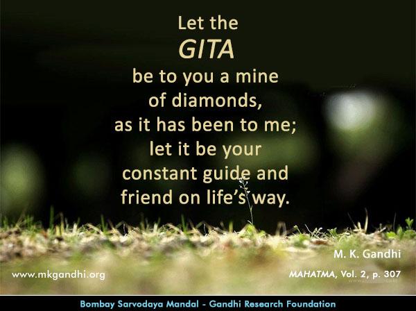 Mahatma Gandhi Quotes on Bhagvadgita