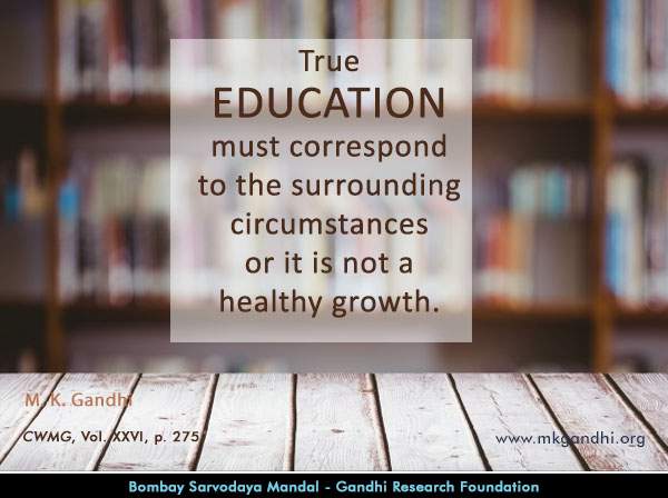 #MahatmaGandhi #Quotes on #Education