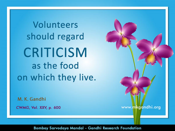 Mahatma Gandhi Quotes on Criticism