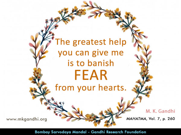 Mahatma Gandhi Quotes on Fear