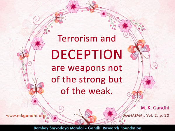 Mahatma Gandhi Quotes on Deception