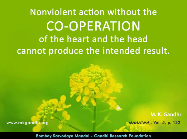 #MahatmaGandhi #Quotes on #Co-operation