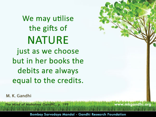Mahatma Gandhi Quotes on Nature