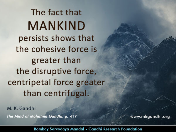 Mahatma Gandhi Quotes on Mankind