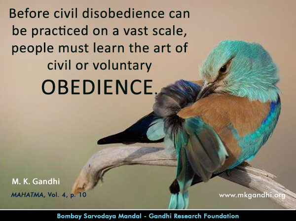 Mahatma Gandhi Quotes on Obedience