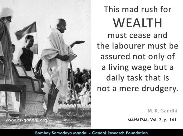 Mahatma Gandhi Quotes on Wealth