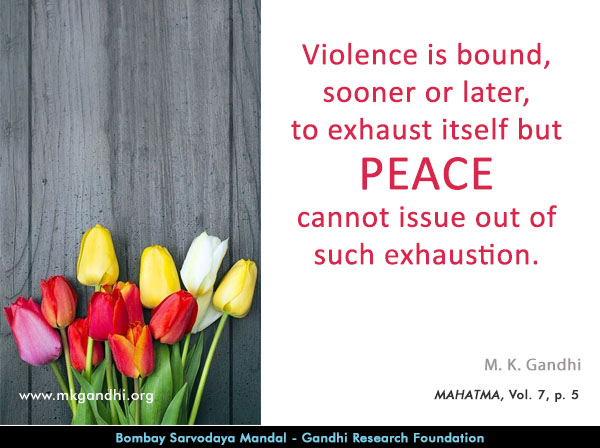 #MahatmaGandhi #Quotes on #Peace