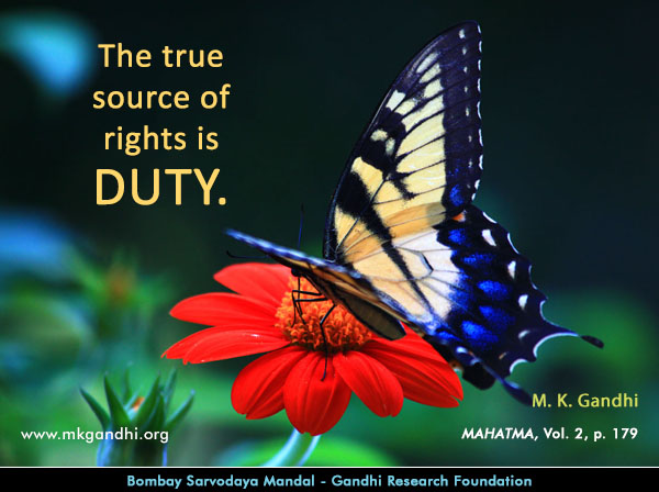 Mahatma Gandhi Quotes on Duty