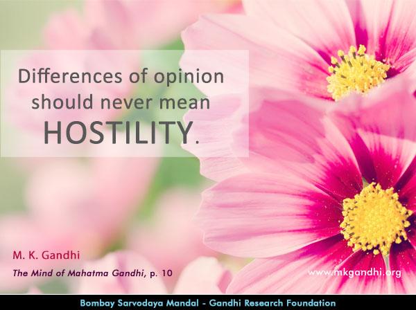 Mahatma Gandhi Quotes on Hostility