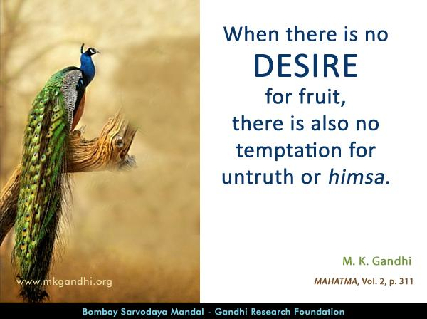 Mahatma Gandhi Quotes on Desire