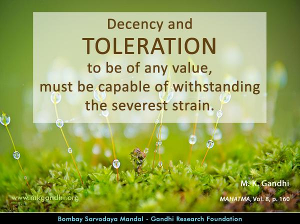 Mahatma Gandhi Quotes on Toleration