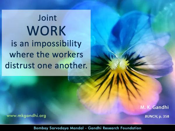 Mahatma Gandhi Quotes on Work