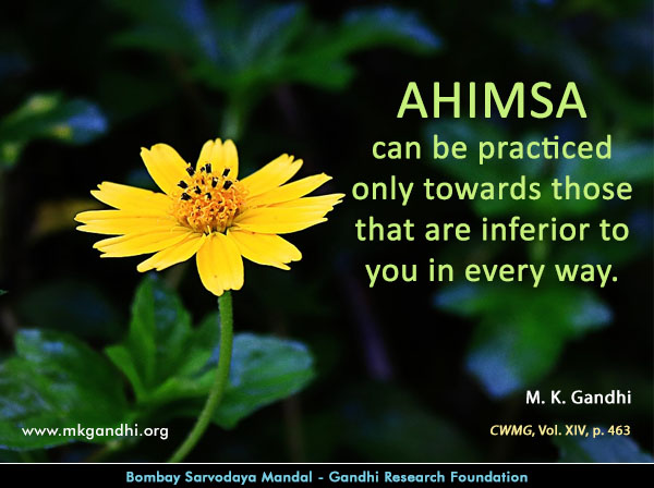 #MahatmaGandhi #Quotes on #Ahimsa