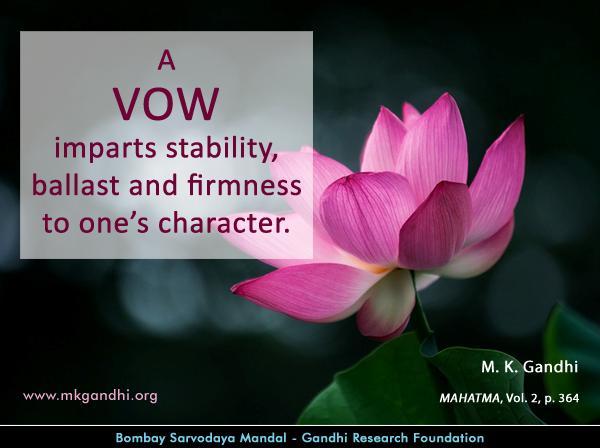 Mahatma Gandhi Quotes on Vow