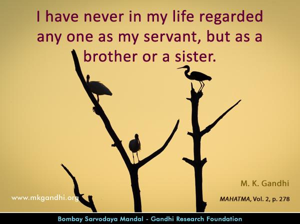 Mahatma Gandhi Quotes on Brotherhood
