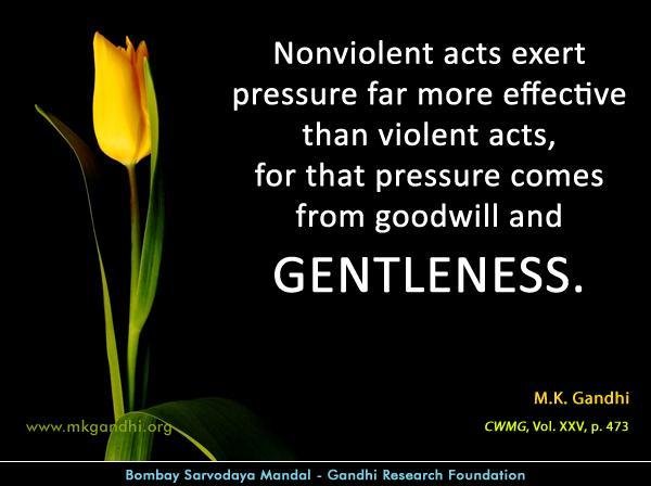 Mahatma Gandhi Quotes on Gentleness