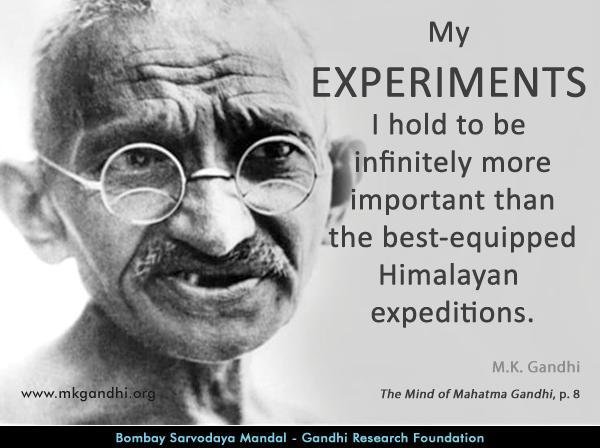 Mahatma Gandhi Quotes on Experiments