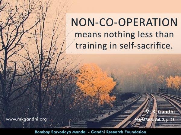 Mahatma Gandhi Quotes on Non-co-operation