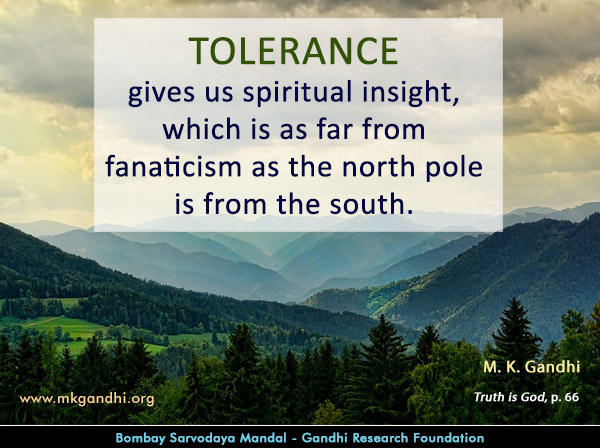 #MahatmaGandhi #Quotes on #Tolerance