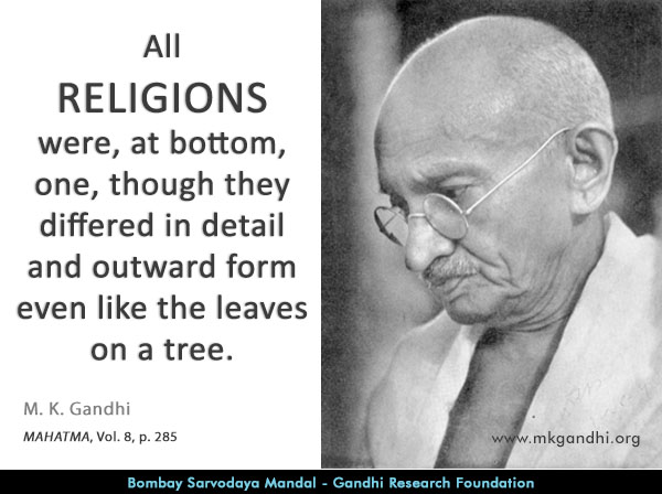 Mahatma Gandhi Quotes on Religions