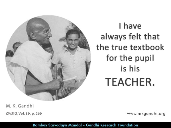 Mahatma Gandhi Quotes on Teacher