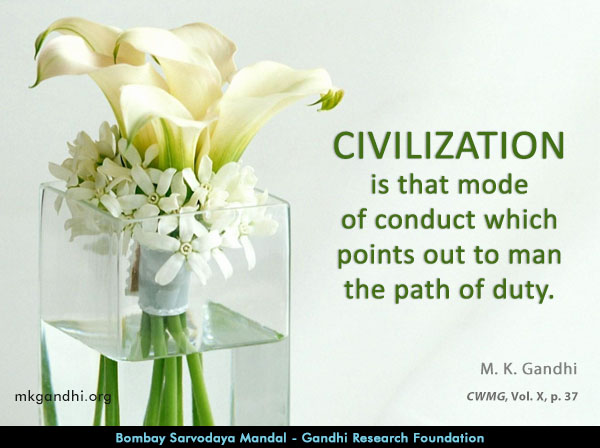 Mahatma Gandhi Quotes on Civilization