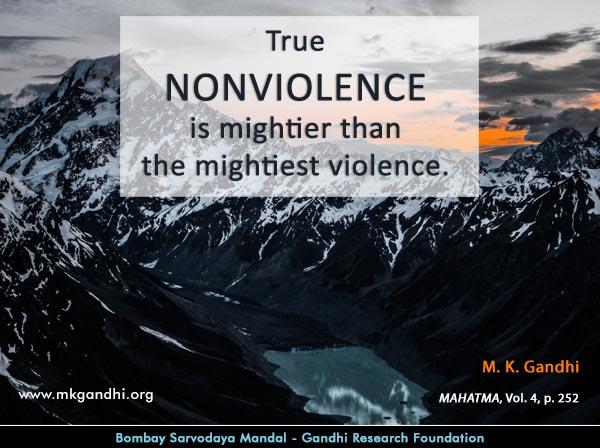 Mahatma Gandhi Quotes on Nonviolence
