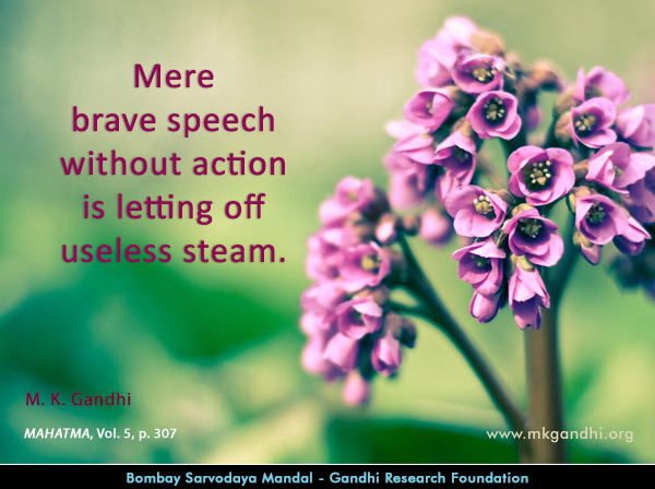 Mahatma Gandhi Quotes on Brave