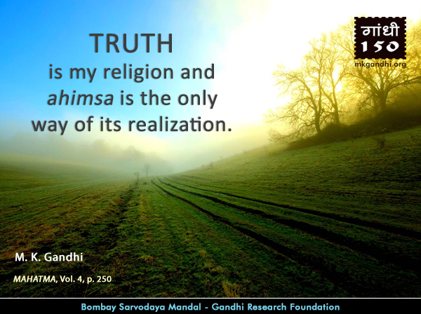 #MahatmaGandhi #Quotes on #Truth  #Gandhi150