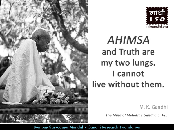 Mahatma Gandhi Quotes on Ahimsa