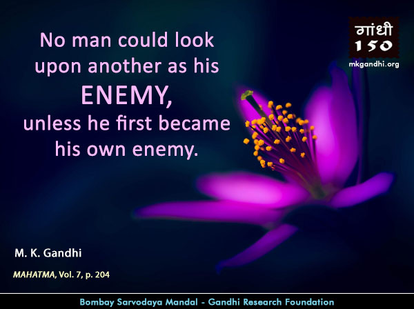 #MahatmaGandhi #Quotes on #Enemy