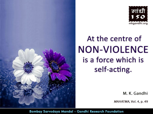 Mahatma Gandhi Quotes on Non-violence