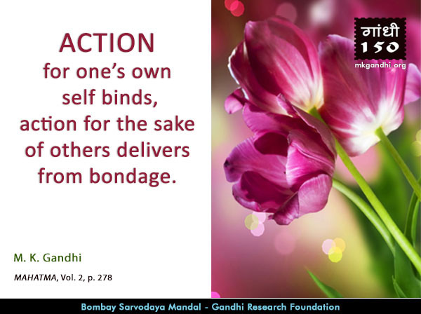 Mahatma Gandhi Quotes on Action