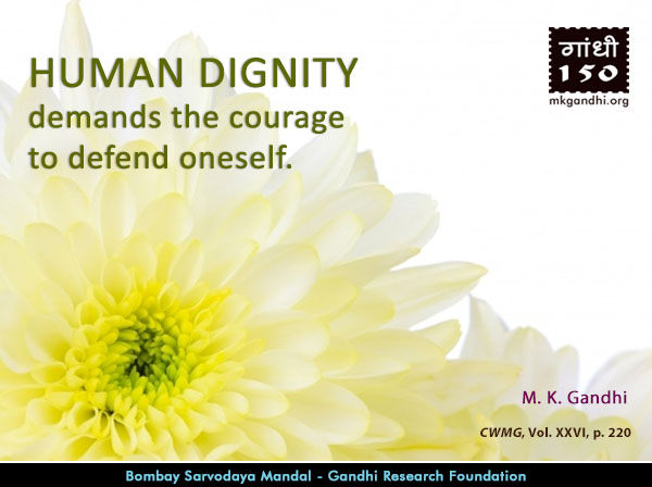 Mahatma Gandhi Quotes on Human Dignity