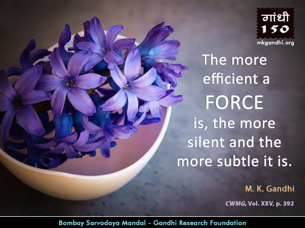 Mahatma Gandhi Quotes on Force