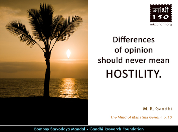 Mahatma Gandhi Quotes on Hostility